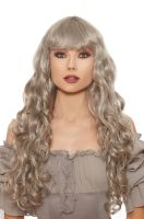 Long Curly Wig (Gray)