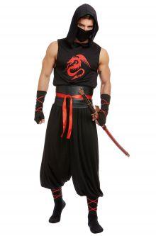 COVID-19-Appropriate costumes Dark Ninja Adult Costume
