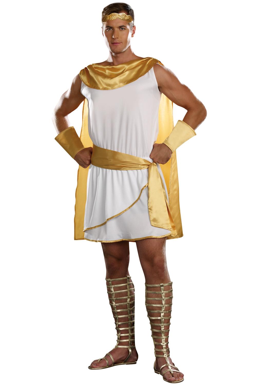 Greek God Toga Men Adult Halloween Costume | eBay