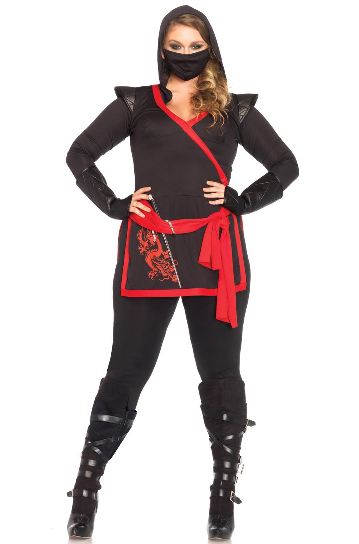 ninja assassin plus size costume - purecostumes