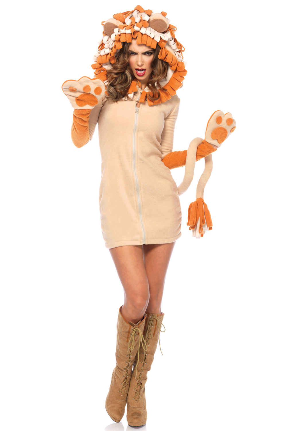 Cozy Lion Adult Costume - PureCostumes.com
