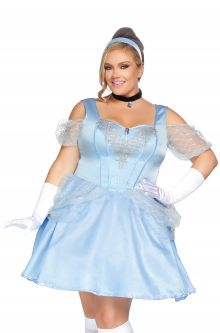 b1d58d527ee09 Glass Slipper Sweetie Plus Size Costume