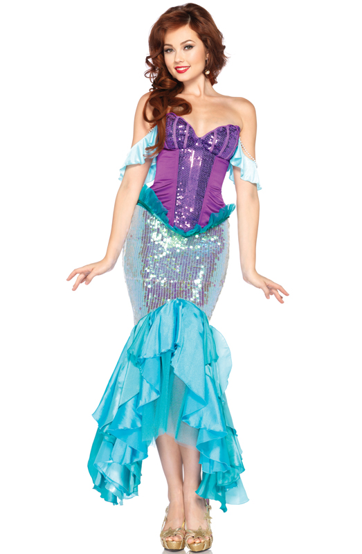 Disney Princess Deluxe Ariel Adult Costume  sc 1 st  eBay : princess adult costumes  - Germanpascual.Com
