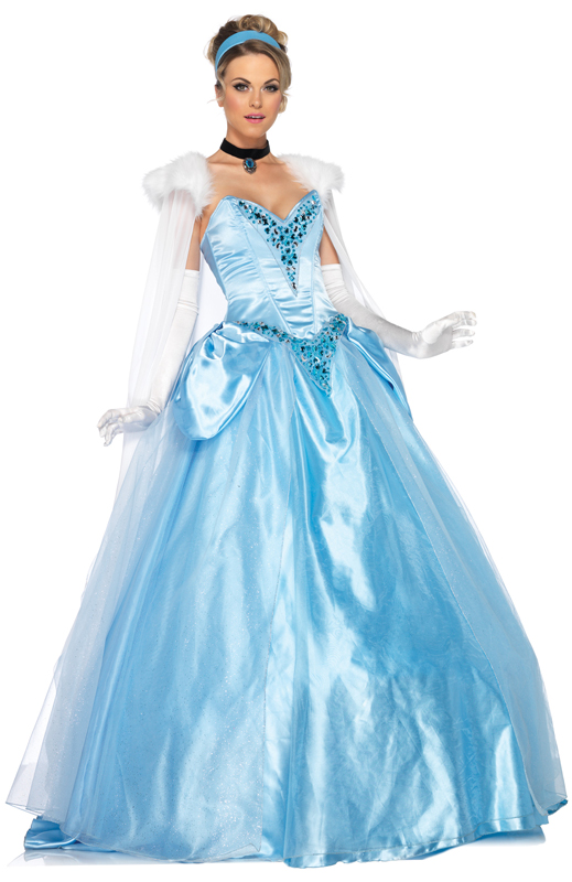 Cinderella Disney™ Princess Deluxe Ball Gown Fancy Dress ...