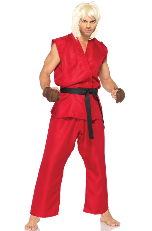 sc 1 st  Pure Costumes & Street Fighter Ken Adult Deluxe Costume - PureCostumes.com
