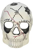 Day of the Dead Masquerade Mask (White)