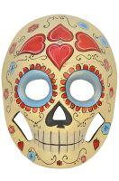Ivory Brand New Calavera Painted Full Face Masquerade Mask