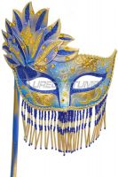 Bellisima Festa Mask (Blue/Gold)