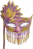 Bellisima Festa Mask (Purple/Gold)