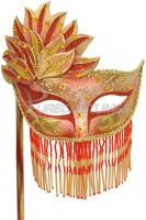 Bellisima Festa Mask (Red/Gold)