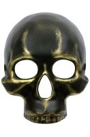 Metallic Skull Mask (Gold)