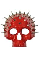 Spiked Crimson Skull Mask