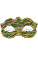 Mardi Gras Animal Print Child Mask (Gold)