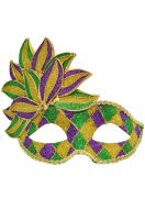 Mardi Gras Leaf Child Mask