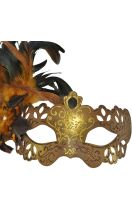 Lady Bella Venetian Mask (Brown)