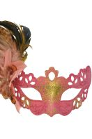 Lady Bella Venetian Mask (Pink)