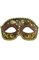 Venetian Opera Mask (Dark Brown)