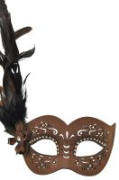 Feathered Divinity Masquerade Mask (Brown)