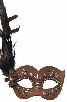Black Feathered Titan God Masquerade Mask