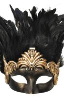Feathered Titan God Masquerade Mask (Gold)
