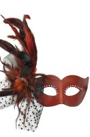 Feathered Harlequin Mask (Red)