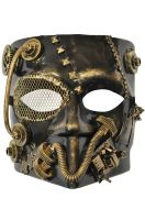 Steampunk Robot Bauta Mask (Gold)