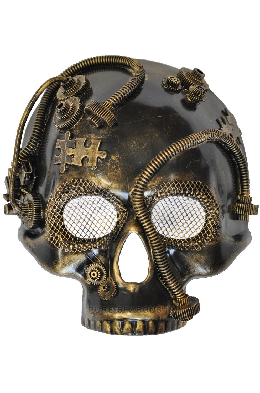 Steampunk Robot Skull Mask Gold Purecostumes Com