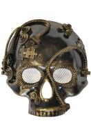 Steampunk Robot Skull Mask (Gold)