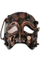 Steampunk Robot Theater Mask (Bronze)