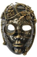 Steampunk Inventor Mask (Gold)