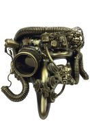 Steampunk Pantalone Mask (Gold)
