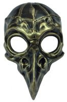 Corvo di Metallo Mask (Gold)