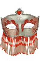 Soiree Spectaculaire Mask (Red/Silver)