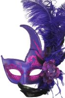 Cigno Rosa Venetian Mask (Purple)