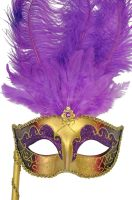 Colombina Vanity Fair Venetian Mask (Purple)