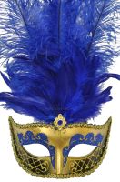 Colombina Festa Venetian Mask (Blue)