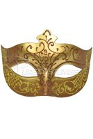 Royal Countess Venetian Mask (Brown)