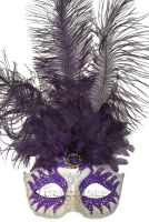 Colombina Swan Princess Feather Mask (Purple)
