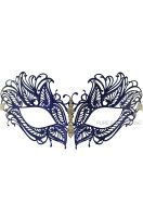 Mystique Winged Venetian Mask (Blue)