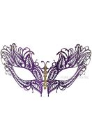 Mystique Winged Venetian Mask (Purple)