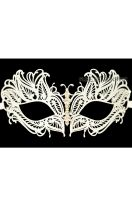 Mystique Winged Venetian Mask (White)