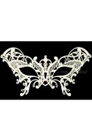 Guilded Butterfly Venetian Mask (White)