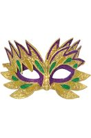Fiery Angel Mardi Gras Mask (Purple)