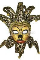 Animal Print Paper Mache Jolly Mask (Leopard)