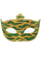 Mardi Gras Animal Print Adult Mask (Gold)