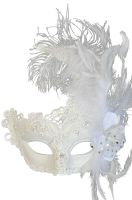 Feathered Swan Venetian Mask