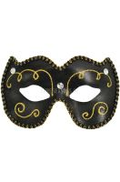 Mardi Gras Eye Mask (Black)
