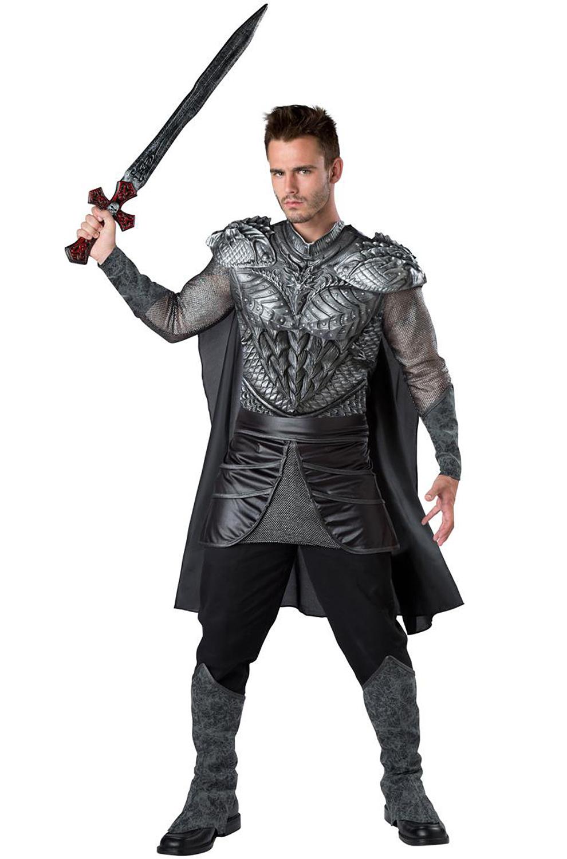 Dark Medieval Knight Adult Costume - PureCostumes.com