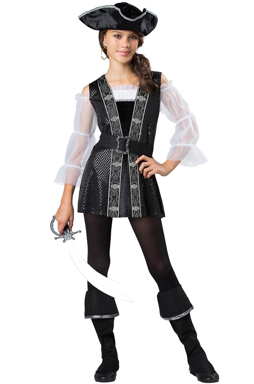 sc 1 st  Pure Costumes & Dark Pirate Lass Tween Costume - PureCostumes.com