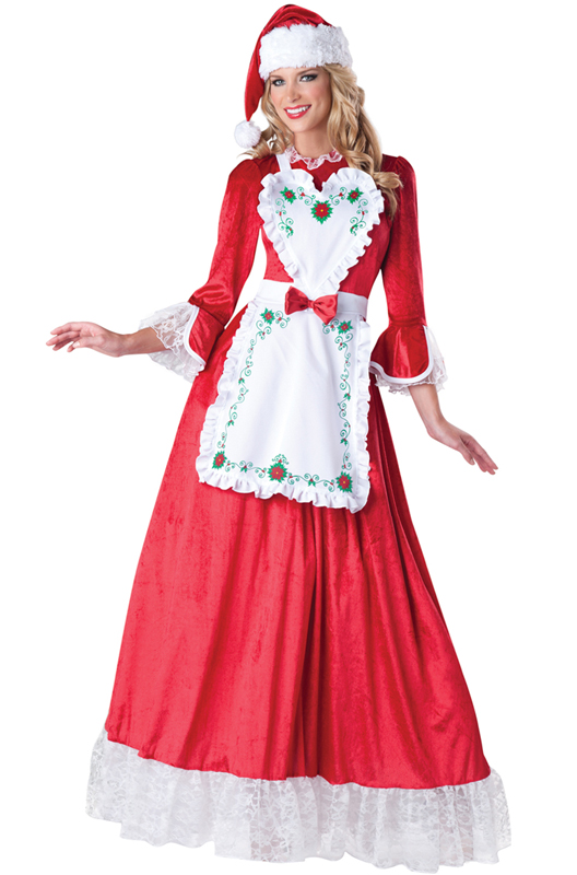 Santa claus mrs dress up outfit adult costume ebay